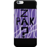 Question Z Pak iPhone Case/Skin
