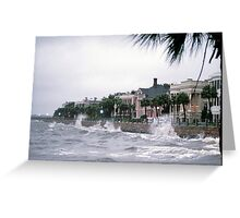 Summer Storm On High Battery Greeting Card