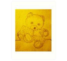 Poor Teddy Art Print