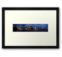 Honolulu - Panorama Framed Print