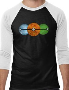 Pokemon Starters Men's Baseball ¾ T-Shirt