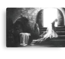 Little Earthquakes; charcoal and chalk Canvas Print