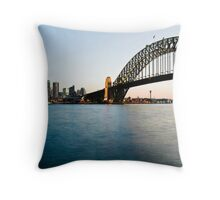 Panorama View of Sydney, The Opera House and Harbour Bridge Throw Pillow