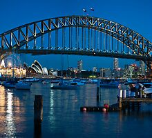 Sydney Harbour Bridge and Opera House by Paul Foley