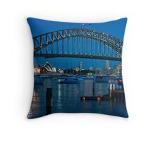 Sydney Harbour Bridge and Opera House Throw Pillow