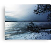 Winter Blue In Belleville Ontario Canvas Print