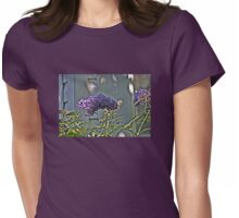 Purple Petals in Sun and Shadow Womens Fitted T-Shirt