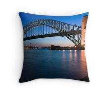 Sydney Harbour Bridge at dusk Throw Pillow