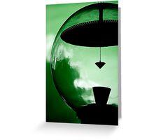 Alien Green Greeting Card