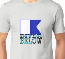Diver Below Blue Flag Unisex T-Shirt