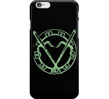 Round Killing Thing - Light Green iPhone Case/Skin