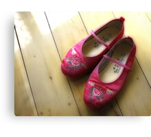 Little Pink Slippers Canvas Print