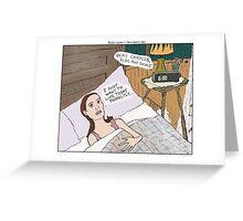 Groundhog Day + Black Swan Greeting Card