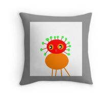 PEACHES character, BUG-ME-NOT  kids art Throw Pillow