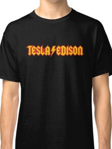 Tesla/Edison vs. AC/DC (Monsters of Grok) Classic T-Shirt
