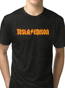Tesla/Edison vs. AC/DC (Monsters of Grok) Tri-blend T-Shirt