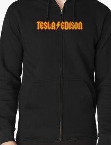 Tesla/Edison vs. AC/DC (Monsters of Grok) Zipped Hoodie