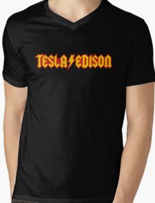 Tesla/Edison vs. AC/DC (Monsters of Grok) Mens V-Neck T-Shirt