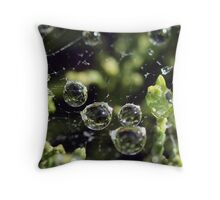 Water Pearls Throw Pillow