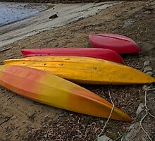 Beached Canoes. by GW-FotoWerx