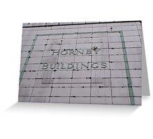 Hornby buildings bury Greeting Card