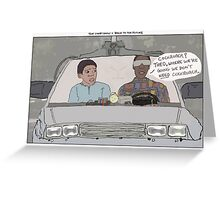 The Cosby Show + Back to the Future Greeting Card