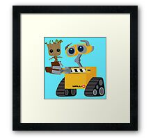 WALL-E and Groot Framed Print