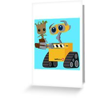 WALL-E and Groot Greeting Card