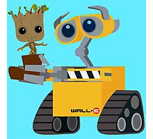 WALL-E and Groot Photographic Print