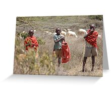 Shepherd Boys Greeting Card