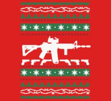 AR-15 Ugly Christmas Sweater by scheme710