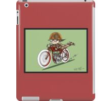MOTORCYCLE EXCELSIOR STYLE (RED BIKE) iPad Case/Skin
