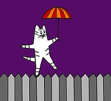 Fence Cat 2 by Kimberley Pollock