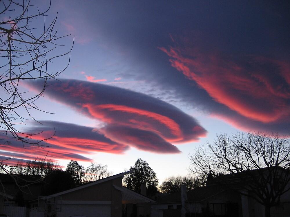 UFO CLOUDS 3 by Harriette Knight