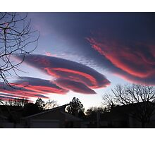UFO CLOUDS 3 Photographic Print