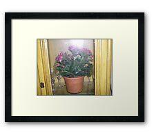 lighted cottage cabinet  Framed Print