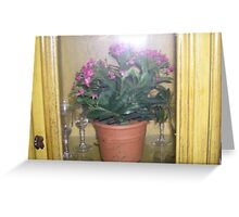 lighted cottage cabinet  Greeting Card
