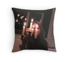 Lighting of the Candles Throw Pillow