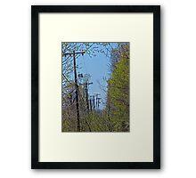 Telephone Poles Framed Print