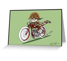 MOTORCYCLE EXCELSIOR STYLE (green) Greeting Card