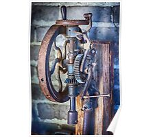 Vintage Blacksmith Drill Press Poster