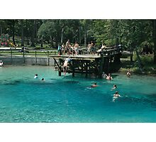 Blue Springs Divers Photographic Print