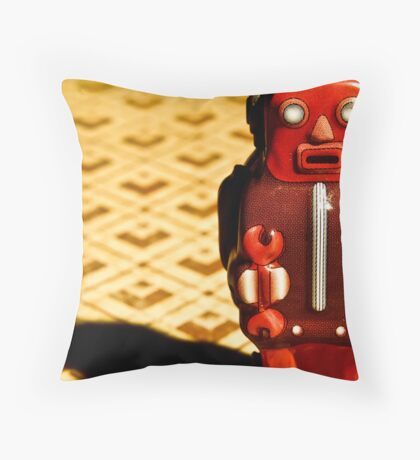 Tin Toy Throw Pillow
