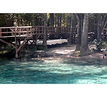Canoes at Blue Springs Photographic Print