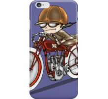 MOTORCYCLE EXCELSIOR STYLE (blue) iPhone Case/Skin