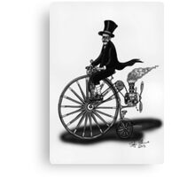 STEAMPUNK PENNY FARTHING BICYCLE (BLACK AND WHITE) Canvas Print