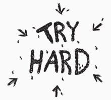 ↳ try hard ↵ T-Shirt