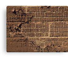 Textured red bricks wall digital art  Canvas Print