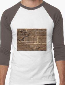 Textured red bricks wall digital art  Men's Baseball ¾ T-Shirt