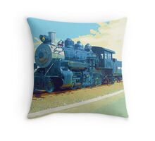 Steam Locomotive Throw Pillow